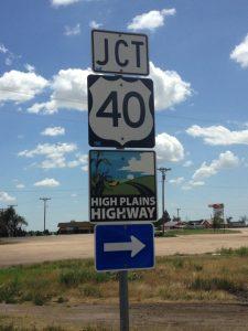 Jct 40 High Plains Highway sign